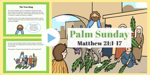 Palm Sunday PowerPoint - christianity, religion, powerpoints