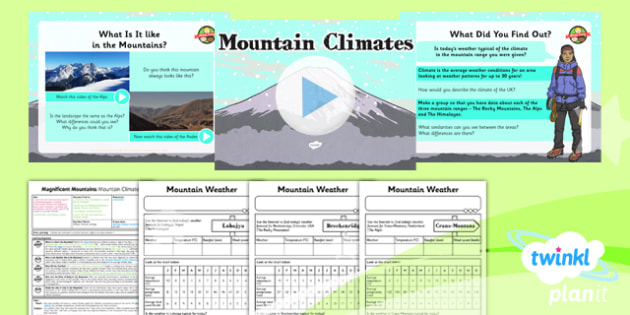 Geography: Magnificent Mountains: Mountain Climates Year 5 Lesson Pack 5