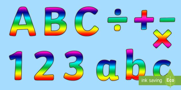rainbow alphabet display lettering rainbow alaphabet