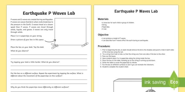 P Waves Lab
