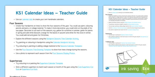Calendar Ideas Twinkl : New ks calendar ideas teacher guide suggestions