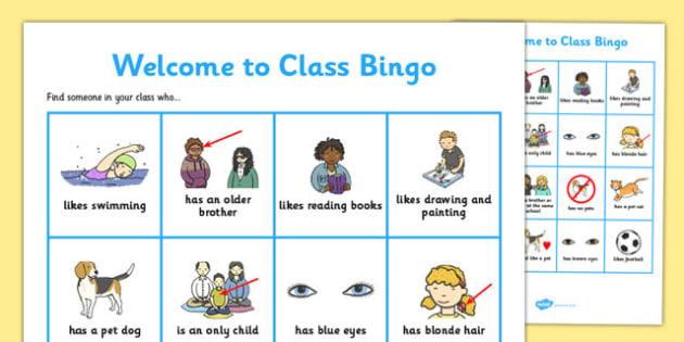 Welcome Transition Bingo Board - welcome, transition, bingo