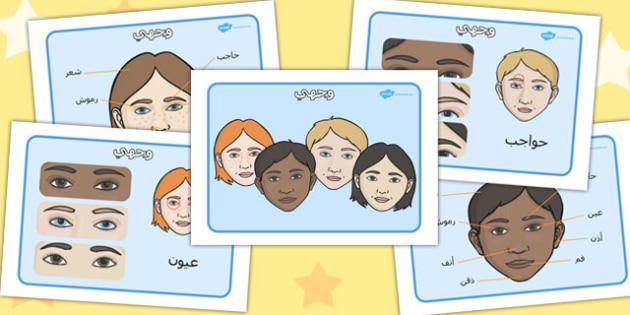 ملصقات عرض عن وجهي ـ وجهي، الوجه، مورد تعليمي