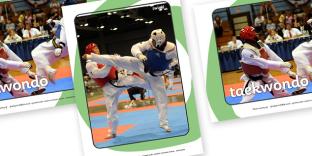 The Olympics Taekwondo Display Photos - Taekwondo, Olympics, Olympic Games, sports, Olympic, London, 2012, display, photo, photos, poster, sign, banner, activity, Olympic torch, events, flag, countries, medal, Olympic Rings, mascots, flame, compete