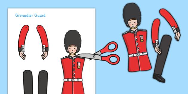 Split Pin Royal Grenadier Guard - Grenadier Guard, split pin, activity, Queen, royal, guard, London, making a split pin, making a Grenadia Guard