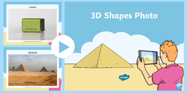 EYFS 3D Shape Photo PowerPoint - shapes, 3D shapes, early years