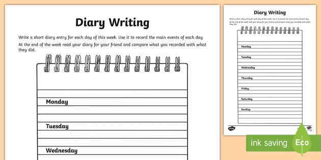 Diary Entry Writing | CBSE Class 9 Worksheets