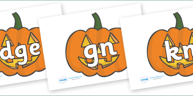 Silent Letters on Jack O'Lanterns - Silent Letters, silent letter, letter blend, consonant, consonants, digraph, trigraph, A-Z letters, literacy, alphabet, letters, alternative sounds
