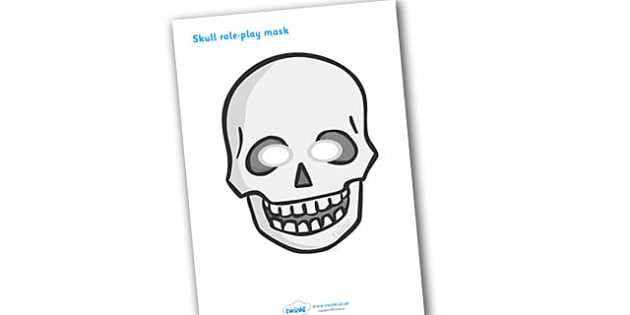 Skull Role Play Mask - funny bones, funnybones, skull, skeleton, all about me, my body, role play, role play masks, mask