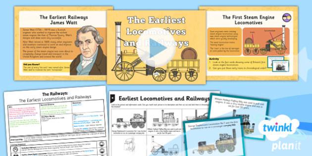 History: The Railways: The Earliest Locomotives and Railways LKS2 Lesson Pack 1