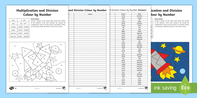 * NEW * UKS2 Space-Themed Multiplication And Division