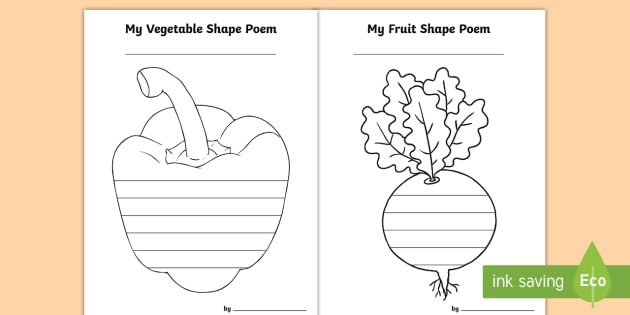 Vegetable shape poetry vegetables worksheet activity vegetable shape poetry vegetables worksheet activity sheets templates shape poems ccuart Image collections