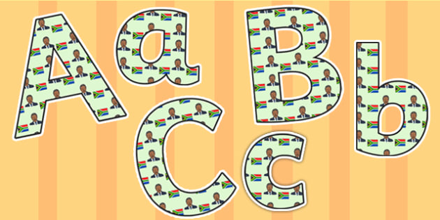 Nelson Mandela Themed A4 Display Lettering - nelson mandela, display lettering, themed lettering, classroom lettering, lettering, a4  lettering, letters