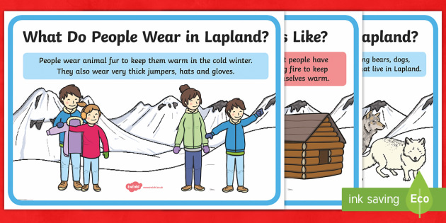 Lapland Display Facts Posters - lapland, geography, finland, christmas, xmas