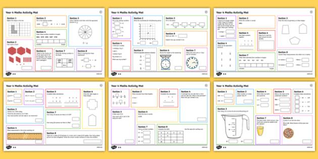 4 Autumn 1 Maths Activity Mats