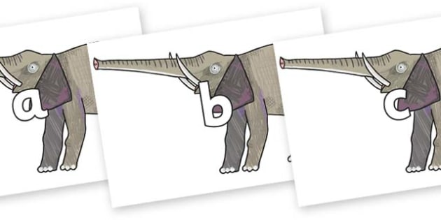 Phase 2 Phonemes on Elephant to Support Teaching on The Bad Tempered Ladybird - Phonemes, phoneme, Phase 2, Phase two, Foundation, Literacy, Letters and Sounds, DfES, display