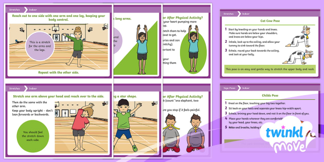 Twinkl Move PE - KS1 Stretches Cards