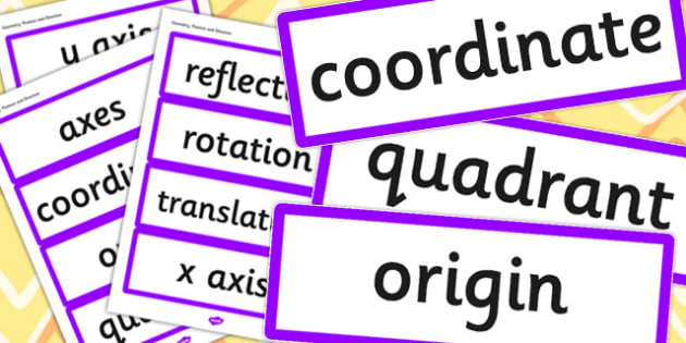 Year 6 2014 Curriculum Geometry Position and Direction Vocabulary