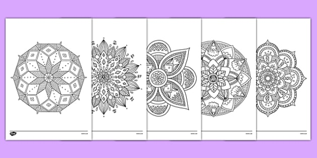 Mandala Themed Mindfulness Colouring