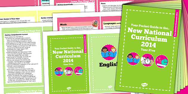 2014 National Curriculum Cards Year 5 Core And Foundation Subjects