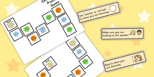 Conversation Practice Game 3 Colours - games, SEN games, friends