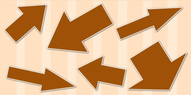 Brown Directional Arrows Cut Outs - brown directional arrows, cut outs, directional arrows, directional arrow cut outs, directional arrows worksheet