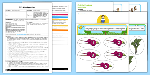 EYFS Find the Potatoes Adult Input Plan and Resource Pack