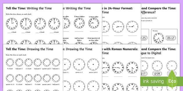Tell the time differentiated worksheet activity sheets maths tell the time differentiated worksheet activity sheets maths resource pack time clocks ibookread Read Online