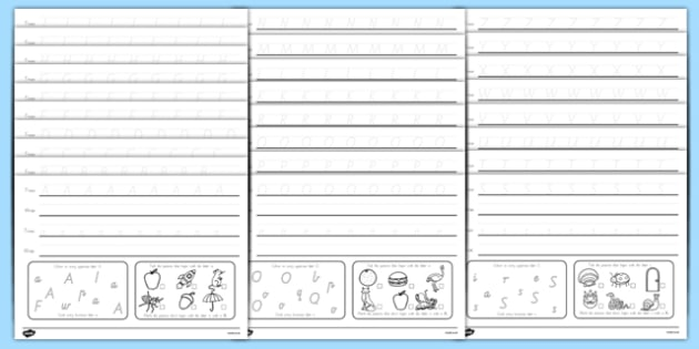 Australian Alphabet Worksheets: Tracing And Reading