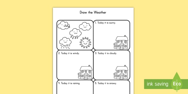 draw the weather worksheet worksheet weather drawing activity seasons. Black Bedroom Furniture Sets. Home Design Ideas