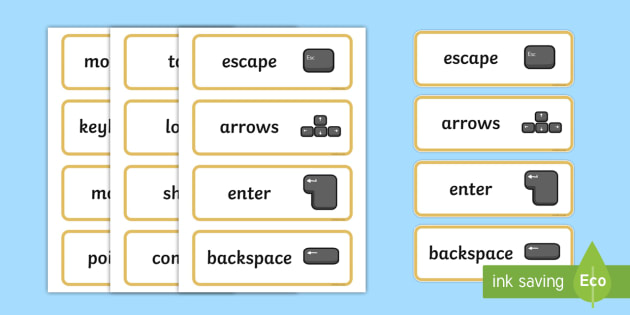ICT Topic Word Cards - ICT, Computer Area,  ICT, Computer, printer, mouse, keyboard, click, CD, Internet, Word Card, flashcard, flashcards