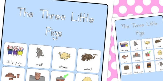 The Three Little Pigs Vocabulary Poster - australia, poster