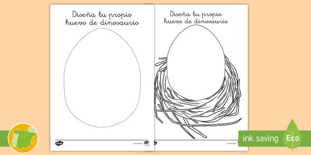 New Ficha De Actividad Diseña Tu Propio Huevo De Dinosaurio