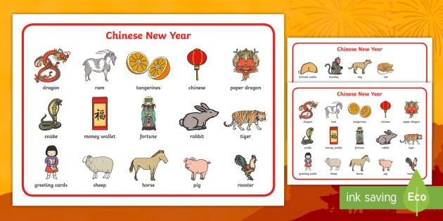 Chinese New Year Word Mat Differentiated