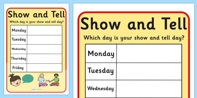 letter n show and tell show and tell editable display poster show and tell 22913 | T M 1227 Show and Tell Editable Display Poster ver 1