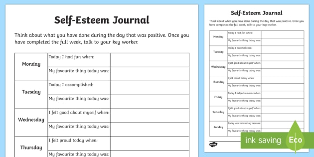 Self Esteem Journal Young People Families Case File