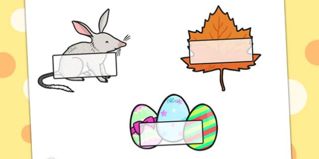 Easter Self-Registration - easter, self reg, signs, labels, tags