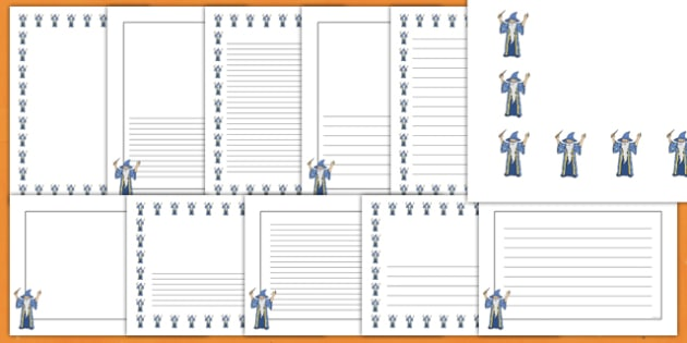 Halloween Wizard Page Border Pack