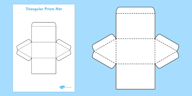how to make a triangular prism with paper