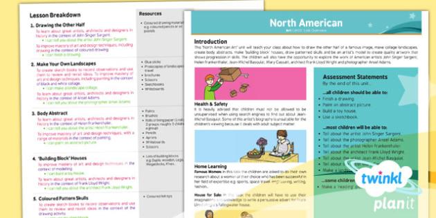 Art: North American Art UKS2 Planning Overview