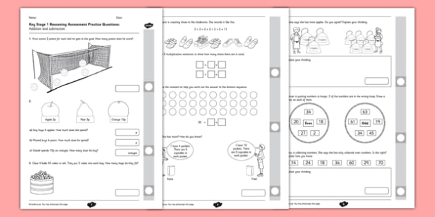 Reasoning Practice Multiplication, Division and Fractions - fluency, reasoning, problem solving, assessment