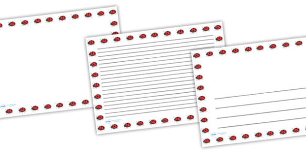 Ladybird Full Page Borders (Landscape) - page borders, ladybird page borders, ladybird borders for page, landscape, minibeasts, A4, border for page