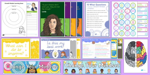 New Zealand Growth Mindset Set-Up Resource Pack - New Zealand Back to School, growth, mindset, resilience, motivational, nz, new classroom, new term,