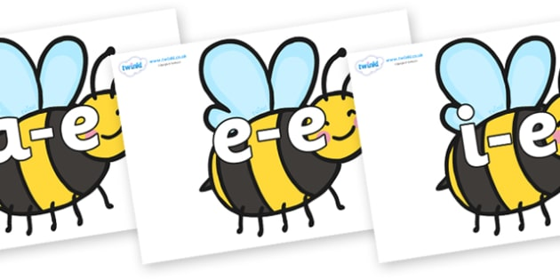 Modifying E Letters on Bees - Modifying E, letters, modify, Phase 5, Phase five, alternative spellings for phonemes, DfES letters and Sounds