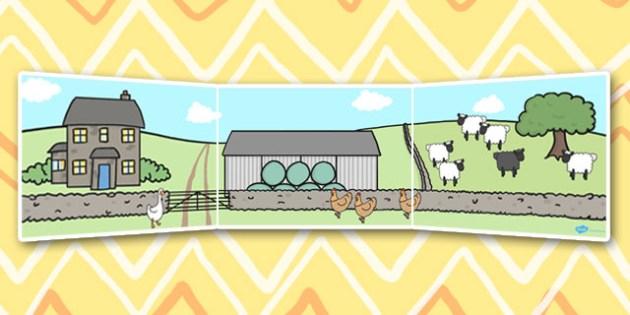 Baa Baa Black Sheep Small World Background - Baa Baa Black Sheep, nursery rhyme, Small World, backdrop, background, scenery, small world area, small world display, small world resources, rhyme, rhyming, nursery rhyme story, nursery rhymes, Baa Baa Bl