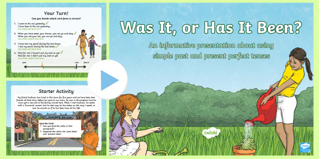 Simple Past And Present Perfect Tense Verbs Powerpoint
