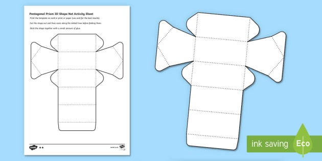 Pentagonal Prism 3d Shape Net Activity Sheet