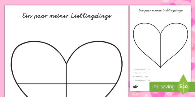Valentinstag Herz Karte Aktiwiteit   DE Valentinstag,  Beschreibungen,Schreiben,Feste Und Feiern,