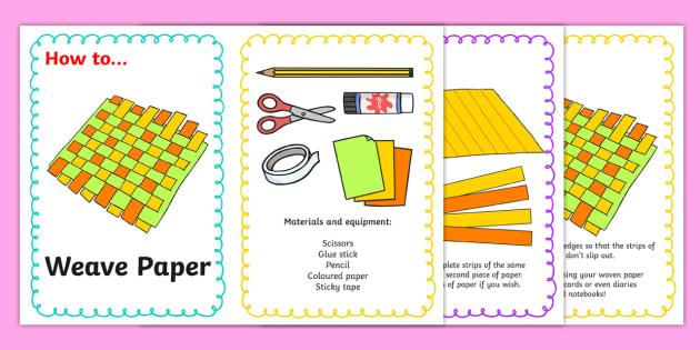 Paper Weaving Craft Instructions Paper Craft Craft Art Design