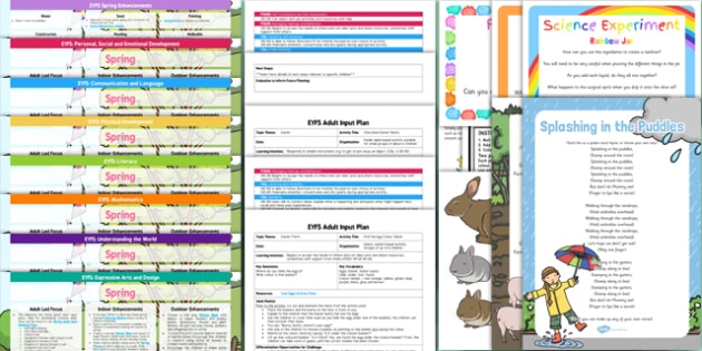 EYFS Spring Themed Lesson Plan Enhancement Ideas and Resources Pack - planning, eyfs, pack